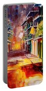 Twilight In New Orleans Portable Battery Charger by Diane Millsap