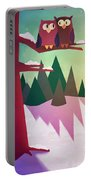 Twilight In The Woods Portable Battery Charger