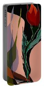 Twin Fire Flower Head 2 Portable Battery Charger by Navo Art