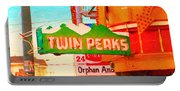 Twin Peaks Gay Bar In San Francisco . Painterly Style Portable Battery Charger