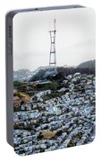 Twin Peaks In San Francisco Aerial Photo Portable Battery Charger
