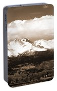 Twin Peaks In Sepia  Portable Battery Charger