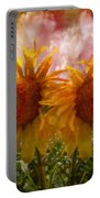 Twin Sunflowers Portable Battery Charger