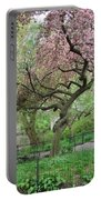 Twisted Cherry Tree In Central Park Portable Battery Charger