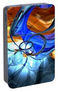 Twisted Spiral Abstract Portable Battery Charger