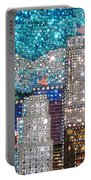 Los Angeles. Rhinestone Mosaic Beadwork Mix Portable Battery Charger