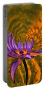 Twisted Waterlily Portable Battery Charger