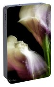 Twisting Cala Lily Two Portable Battery Charger