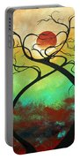 Twisting Love II Original Painting By Madart Portable Battery Charger by Megan Duncanson