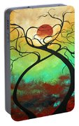 Twisting Love II Original Painting By Madart Portable Battery Charger