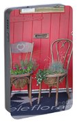 Two Chairs With Plants Portable Battery Charger