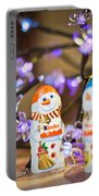 Two Chocolate Snowmen 2 Portable Battery Charger