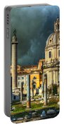 Two Churches And Columns Portable Battery Charger