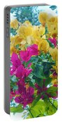 Two Color Flowers Portable Battery Charger