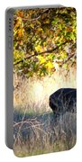 Two Deer In Autumn Meadow Portable Battery Charger