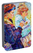 Two Drawing Ladies Portable Battery Charger