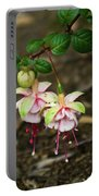 Two Fushia Blossoms Portable Battery Charger