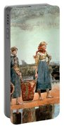 Two Girls On The Beach Portable Battery Charger