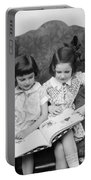 Two Girls Reading A Book, C.1920-30s Portable Battery Charger