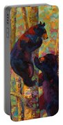 Two High - Black Bear Cubs Portable Battery Charger by Marion Rose