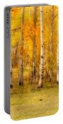 Two Horses In The Colorado Fall Foliage Portable Battery Charger
