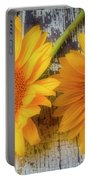 Two Lovely Sunflowers Portable Battery Charger