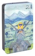 Two Of Swords Illustrated Portable Battery Charger
