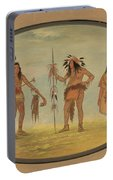 Two Ojibbeway Warriors And A Woman Portable Battery Charger