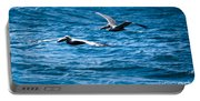 Two Pelicans Flying Portable Battery Charger