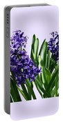 Two Purple Hyacinths Portable Battery Charger