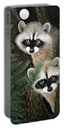 Two Raccoons Portable Battery Charger