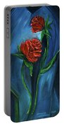 Two Red Roses Portable Battery Charger