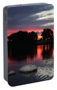 Two Rocks Sunset In Prosser Portable Battery Charger