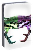 Two Sides - Duality Crab Art Portable Battery Charger