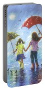 Two Sisters Rain Blond Little Sister Portable Battery Charger