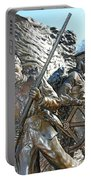 Two Soldiers Of The The African American Civil War Memorial -- The Spirit Of Freedom Portable Battery Charger