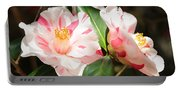 Two Striped Camellias Portable Battery Charger