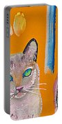 Two Superior Cats With Wild Wallpaper Portable Battery Charger