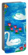 Two Swans Portable Battery Charger by Sushila Burgess