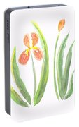 Two Iris II Watercolor Portable Battery Charger