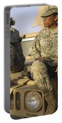 Two U.s. Army Soldiers Relax Prior Portable Battery Charger