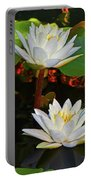 Two Water Lilies 004 Portable Battery Charger