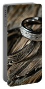 Two Wedding Rings With Celtic Design Portable Battery Charger