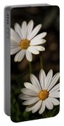 Two White Daisies  Portable Battery Charger