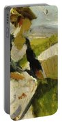 Two Women On The Hillside 1906 Portable Battery Charger