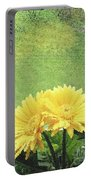 Two Yellow Gerber Daisies Portable Battery Charger