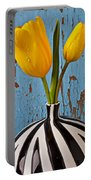 Two Yellow Tulips Portable Battery Charger