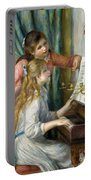 Two Young Girls At The Piano, 1892  Portable Battery Charger