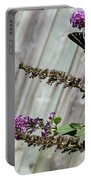 Two Zebra Swallowtail Butterflies Portable Battery Charger