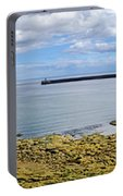 Tynemouth Piers And Lighthouses Panorama Portable Battery Charger